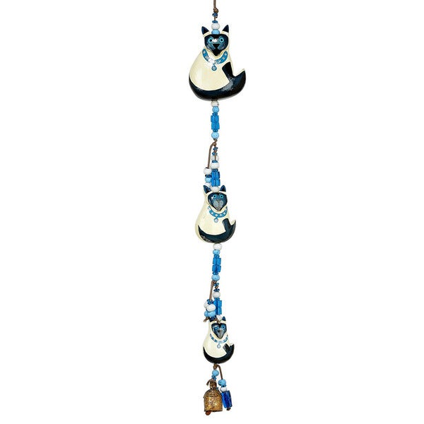 Handmade Blue-Eyed Cats Wind Chime (India)