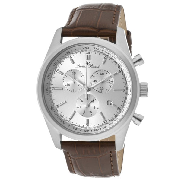 Lucien Piccard Men's 'Eiger' Brown Genuine Leather Watch