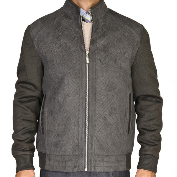 Men's Slate Grey Knitted Wool Jacket