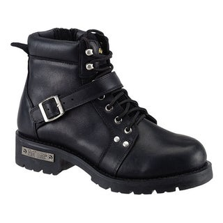 AdTec Men's Black Leather/ YKK Zipper Boots