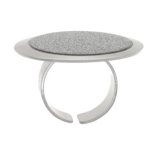 NEXTE Jewelry Lunar Circle Sparkle Ring