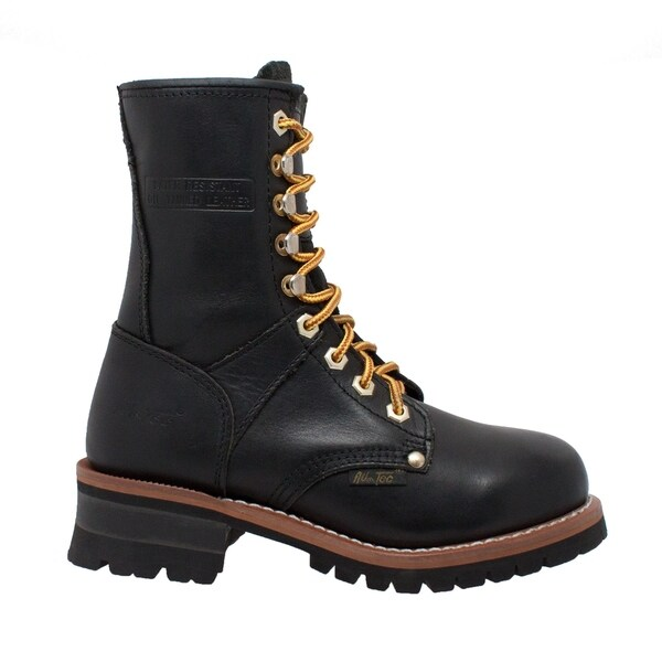 AdTec Women's 9-inch Black Leather