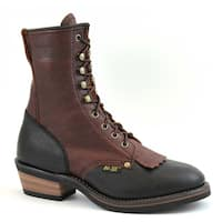 AdTec Women's 8-inch Black/ Dark Cherry Packer Boots