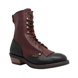 AdTec Women's 8-inch Black/ Dark Cherry Packer Boots