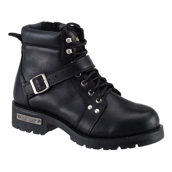 AdTec Women's Black Leather/ YKK Zipper Boots - Free Shipping ...