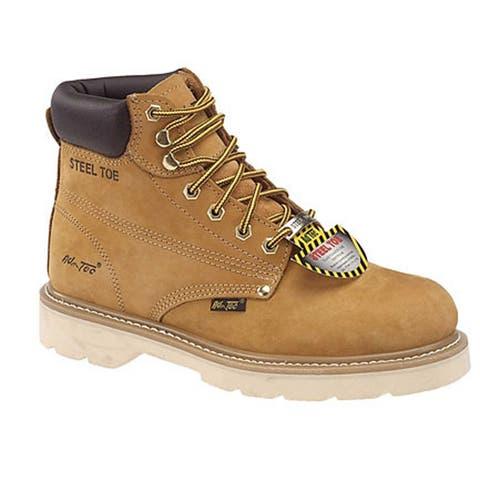 AdTec Men's 6-inch Tan Nubuck Steel-toed Work Boots