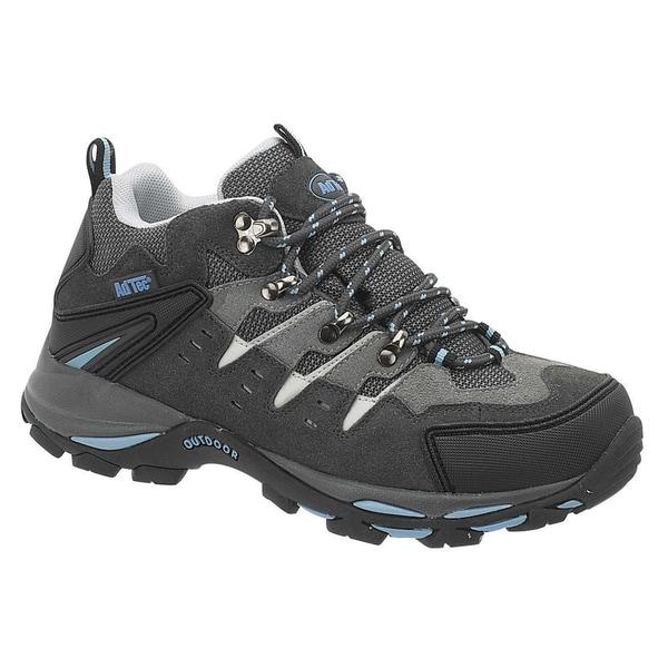 AdTec Women's Grey/ Blue Steel-toed Work/ Hiker Boots