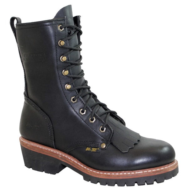 AdTec Men's 10-inch Black Fireman/ Logger Boots