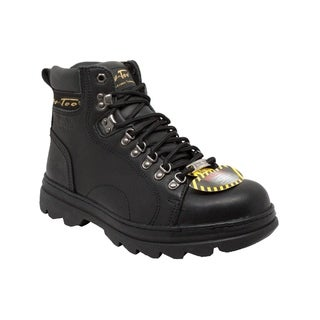 AdTec Men's 6-inch Black Leather Steel-toed Hiker Boots