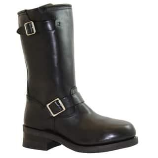 AdTec Men's Black Leather Engineer Boots|https://ak1.ostkcdn.com/images/products/7472058/7472058/AdTec-Mens-Black-Leather-Engineer-Boots-P14919307.jpg?impolicy=medium