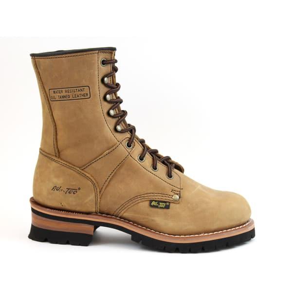 df92d6badf8 AdTec Men's Brown Crazy Horse Leather Logger Boots