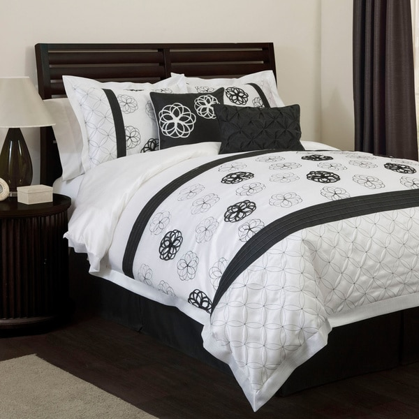 Lush Decor Covina Black/White 6-piece Comforter Set