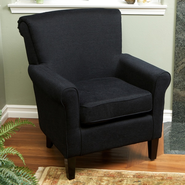 Fontaine Embroidered Black Club Chair By Christopher Knight Home