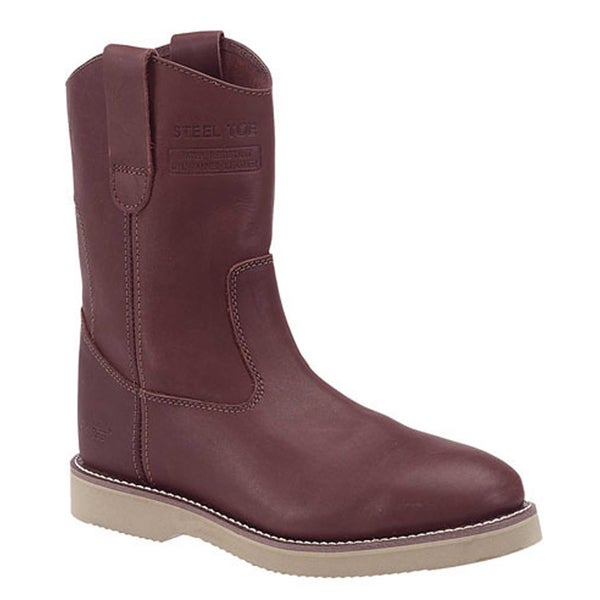 AdTec Men's 10-inch Redwood Leather Wellington Boots
