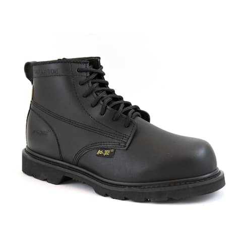 AdTec Men's Black Action Leather Work Boots