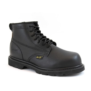AdTec Men's Black Action Leather Work Boots (Option: Extra Wide)