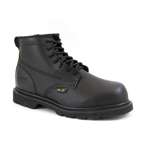 AdTec Men's Black Action Leather Work Boots