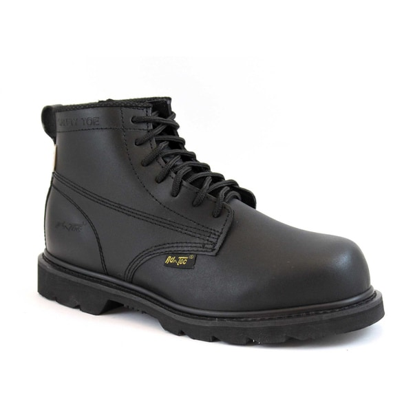 AdTec Men&39s Black Action Leather Work Boots - Free Shipping Today