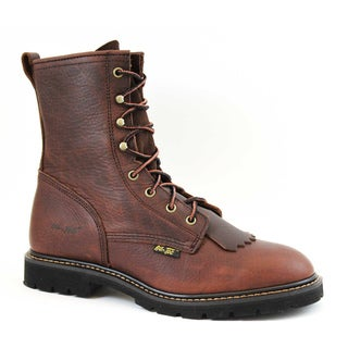 AdTec Men's 9-inch Chestnut Leather Lacer Boots