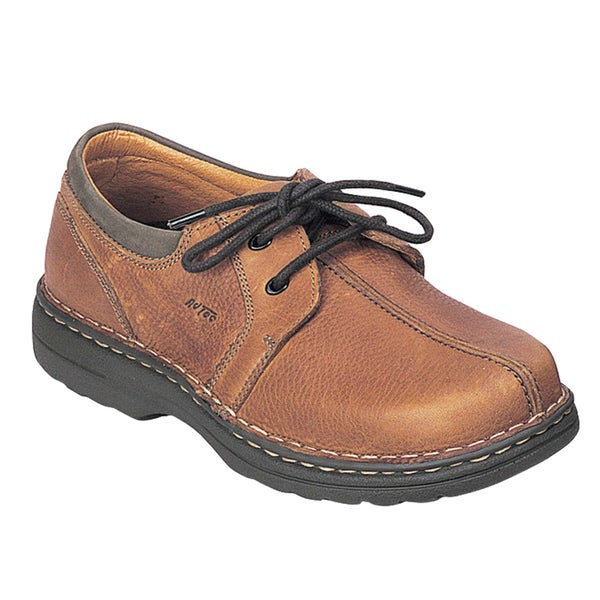 AdTec Men's Golden Brown Leather Oxford Work Shoes