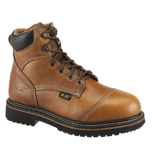 AdTec Men's Leather Comfort Work Boots - Free Shipping Today ...