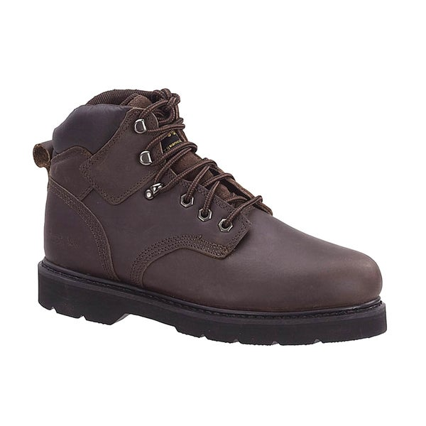AdTec Men's Oiled Leather Brown Work Boots