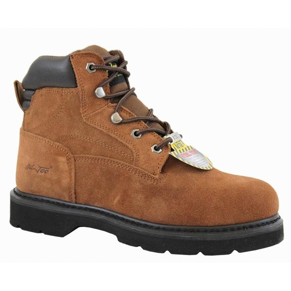 AdTec Men's Sueded Leather Steel Toe Boots
