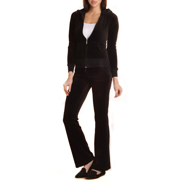 Women's 2-piece Lounge Wear Velour Track Suit