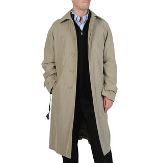 Cianni Cellini Men's 'Renny' Full-length Belted Raincoat (Option: 52r)