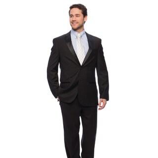 Caravelli Men's Black Satin-detailed Tuxedo