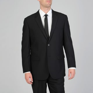 Montefino Uomo Men's Black Wool Suit