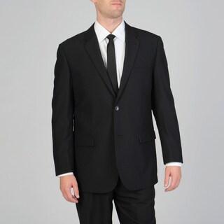 Montefino Uomo Men's Black Wool Suit