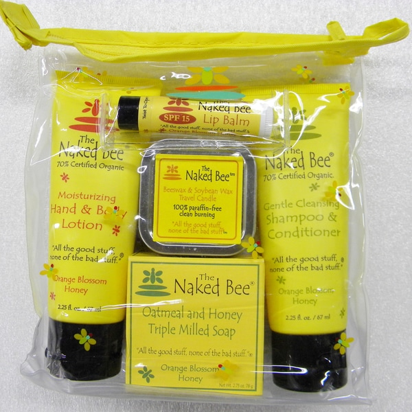 The Naked Bee Travel Kit Beeswax & Soybean with Candle