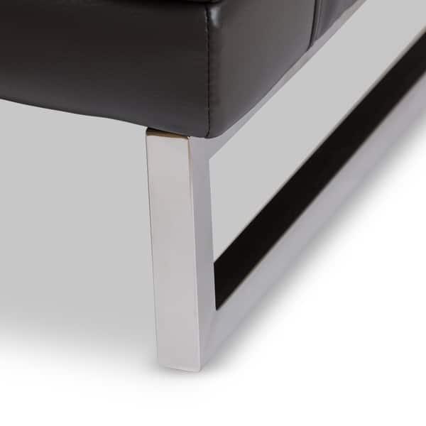 Fine Shop Baxton Studio Dakota Pewter Grey Leather Modern Sofa Creativecarmelina Interior Chair Design Creativecarmelinacom