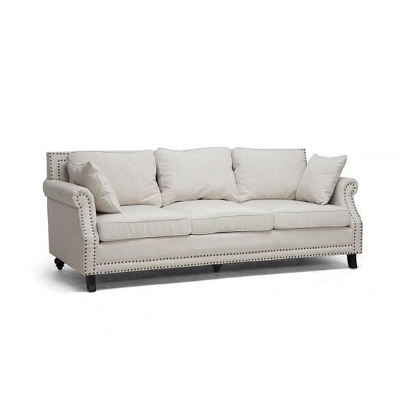 Mckenna Beige Linen Modern Sofa