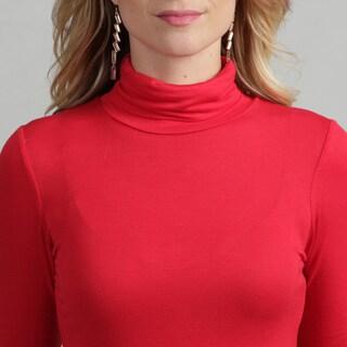 24/7 Comfort Apparel Women's Basic Top Turtleneck T Shirt