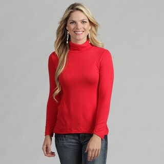 24/7 Comfort Apparel Women's Basic Top Turtleneck T-shirt