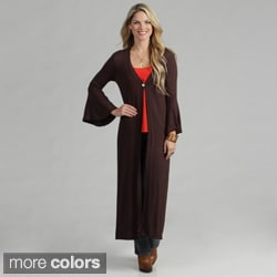 24/7 Comfort Apparel Women's Maxi Cardigan