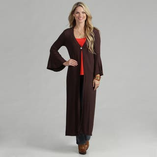 24/7 Comfort Apparel Women's Maxi Cardigan|https://ak1.ostkcdn.com/images/products/7472322/P14919558.jpg?impolicy=medium