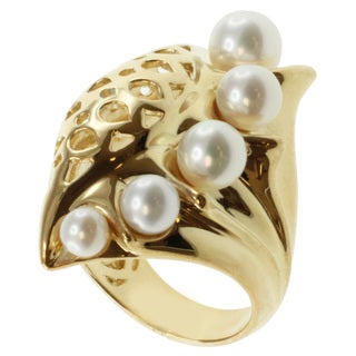Michael Valitutti Jason Dow Two-tone Pearl 'Seashell' Ring (4-7 mm)