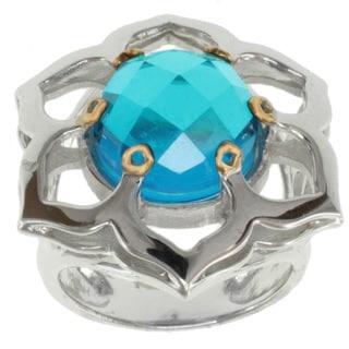 Michael Valitutti Jason Dow Two-tone Quartz Doublet Ring