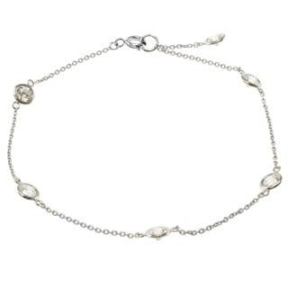 Michael Valitutti 14k White Gold Cubic Zirconia Bracelet