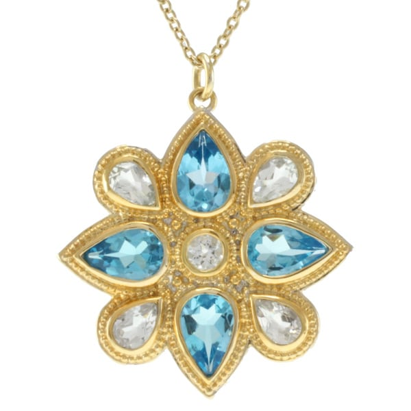 Michael Valitutti Jason Dow Two-tone Topaz Necklace
