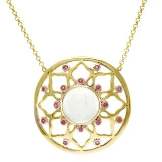 Michael Valitutti Jason Dow Two-tone Moonstone and Pink Sapphire Necklace