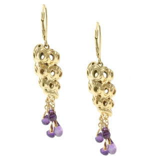 Michael Valitutti Jason Dow Two-tone Amethyst 'Sea Shell' Earrings