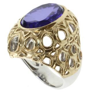 Michael Valitutti Jason Dow Two-tone Tanzanite Quartz Ring (Option: 10) https://ak1.ostkcdn.com/images/products/7472354/7472354/Michael-Valitutti-Jason-Dow-Two-tone-Tanzanite-Quartz-Ring-P14919531.jpg?impolicy=medium