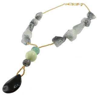 Michael Valitutti Tourmaline Quartz and Black Onyx Necklace