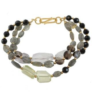 Michael Valitutti Two-tone Multi-gemstone Bracelet