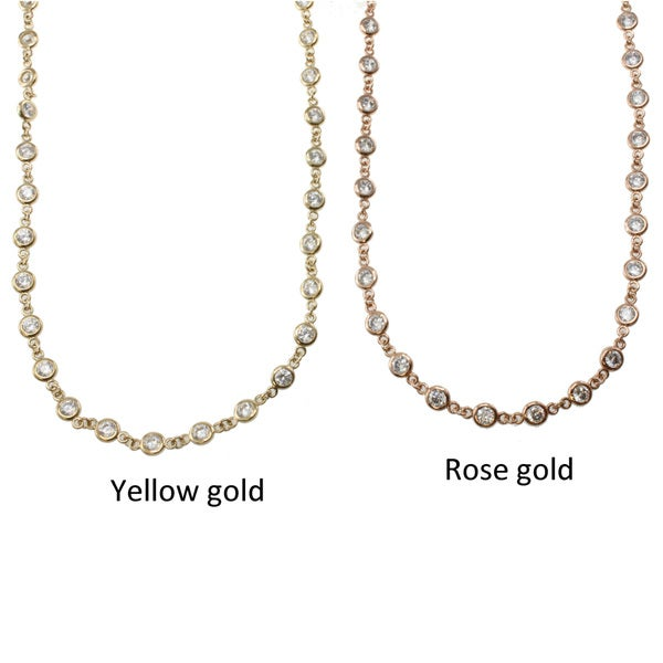 Michael Valitutti Signity 14k Gold Cubic Zirconia Necklace