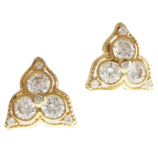 Michael Valitutti 14k Yellow Gold Cubic Zirconia Earrings